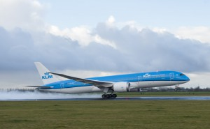 KLM Boeing 787 Dreamliner takes off