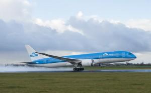 KLM Boeing 787 Dreamliner takes off
