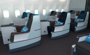 Interior KLM World Business Class with Desso Aviation Carpet