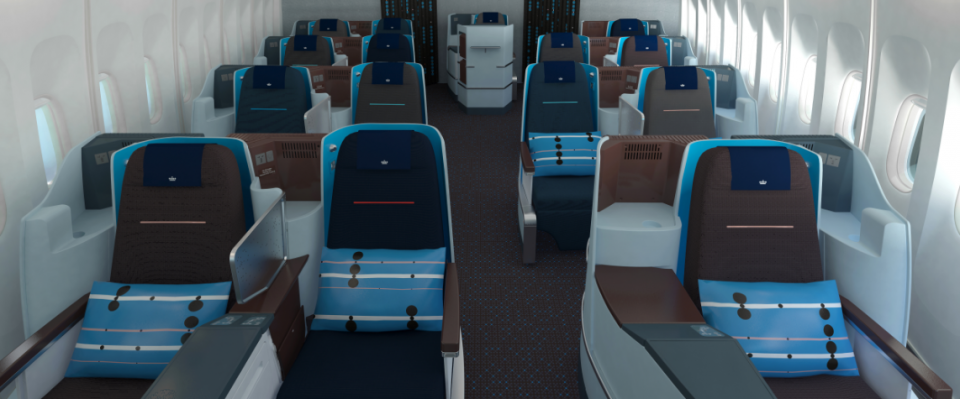 Desso aviation carpet KLM World Business Class