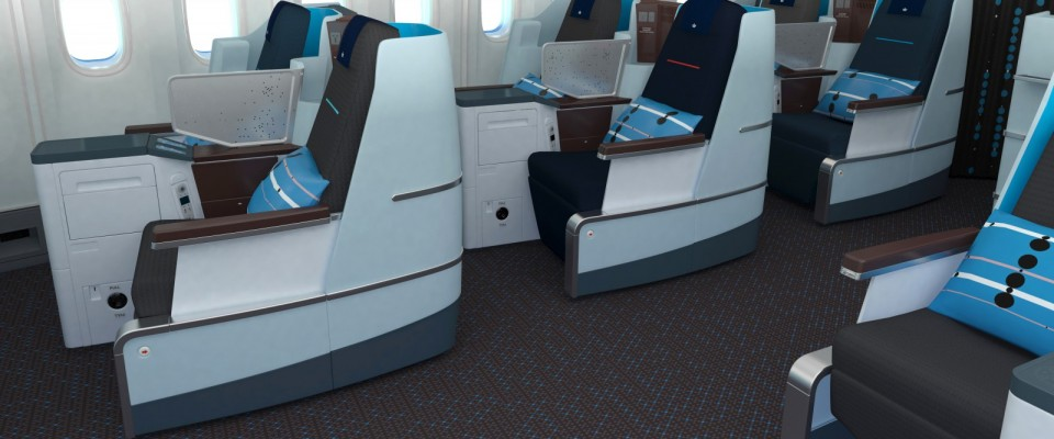KLM Interior and Hella Jongerius carpet